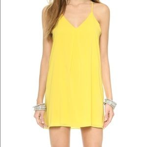 Like New Alice & Olivia Yellow Swing Cami Dress